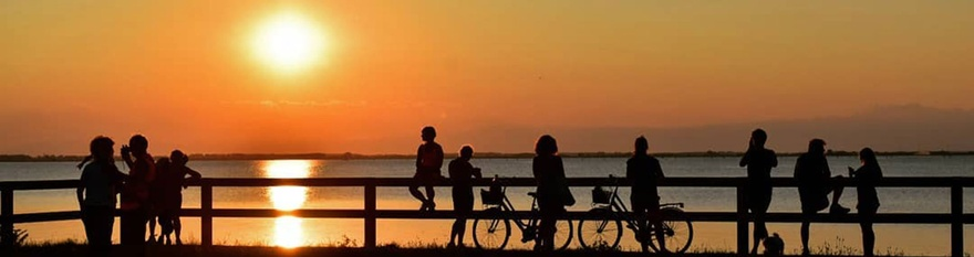 In bicicletta al tramonto a Lignano - Le foto del Sunset Bike Tour