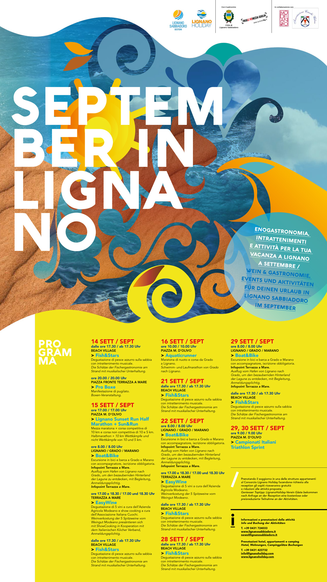 Lignano Events In September 2018 Wellbeing Sport And Food
