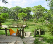 Play park at Hemingway Park in Lignano