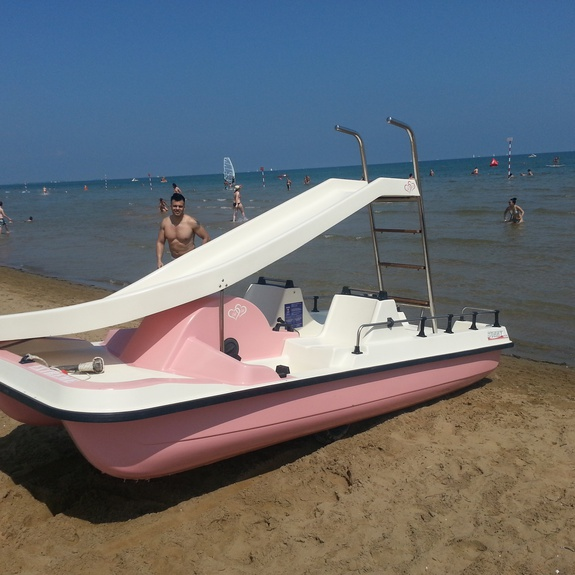 Girl's paddleboat in Lignano