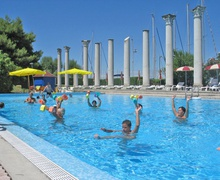Wassergymnastik im Sporting Club in Lignano
