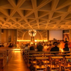 Inside San Giovanni Bosco Church in Lignano