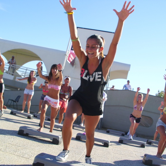Step instructor at the Beach Village in Lignano