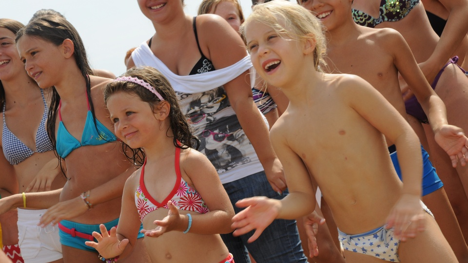 Children during Baby Dance in Lignano