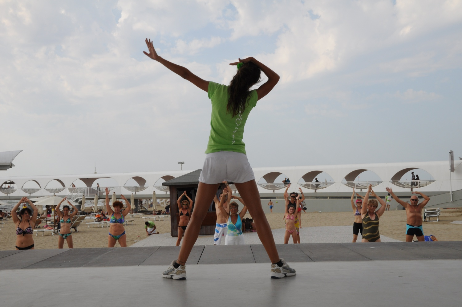 Muscle toning at Beach Village in Lignano