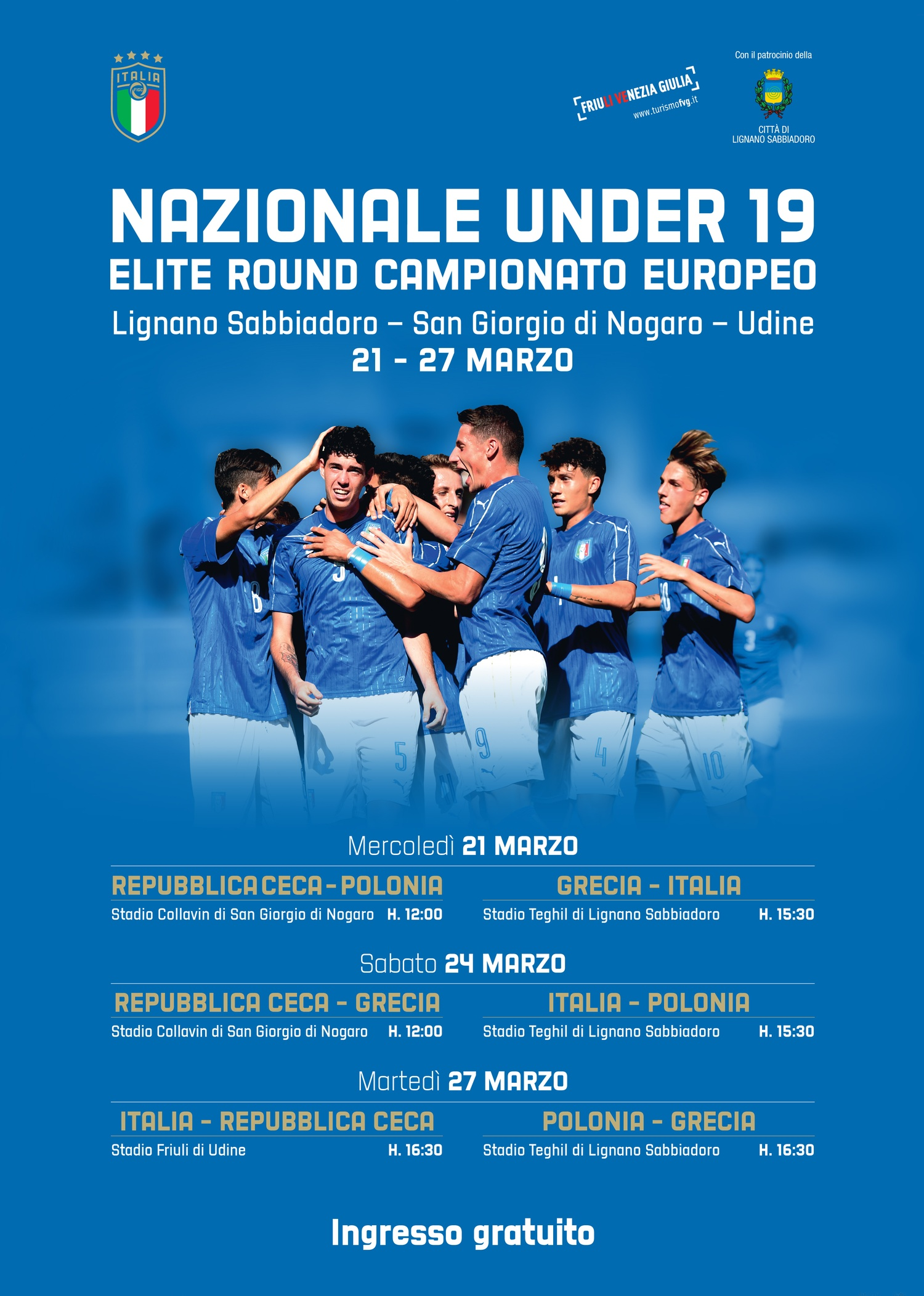 Picture ofNazionale Under 19 - Elite Round Campionato Europeo