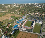 Aerial View of the Teghil Municipal Stadium in Lignano
