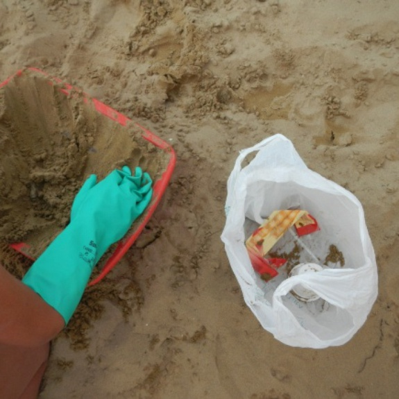 Environmental education on the beach