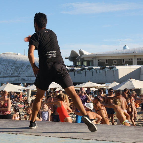 Aerobics lesson in Lignano