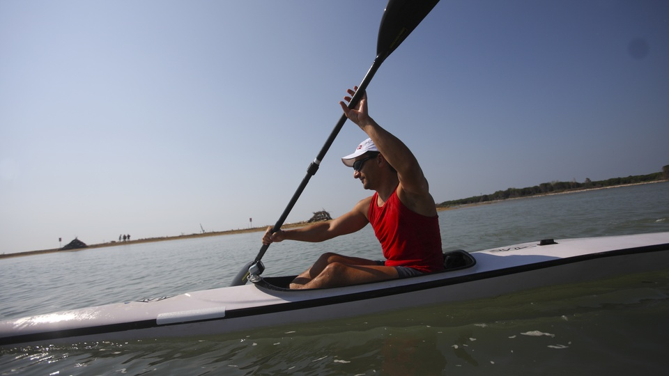 Rowing in Lignano