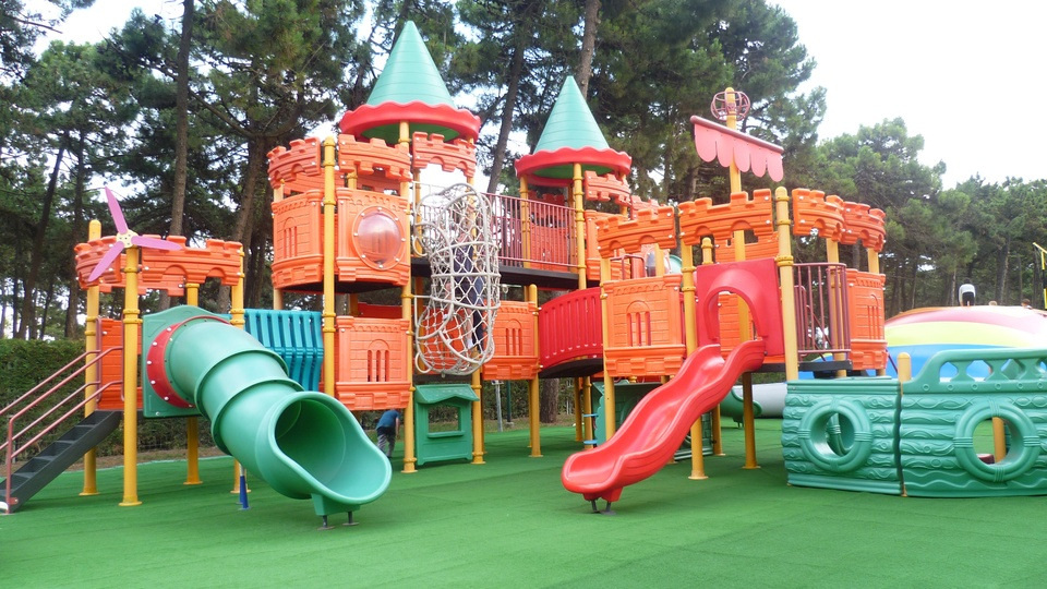 The play castle at the I Gommosi park