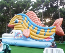 Inflatable game at I Gommosi Play Park