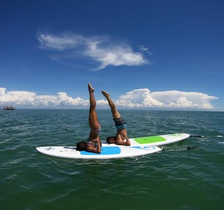 Yoga SUP a Lignano Pineta