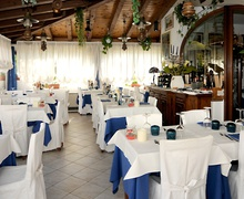 Indoor room of Rosa Restaurant in Lignano