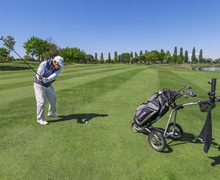 A player at the Golf Club in Lignano