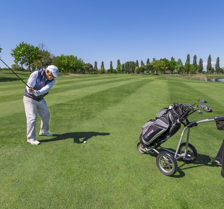 Golf Player in Lignano