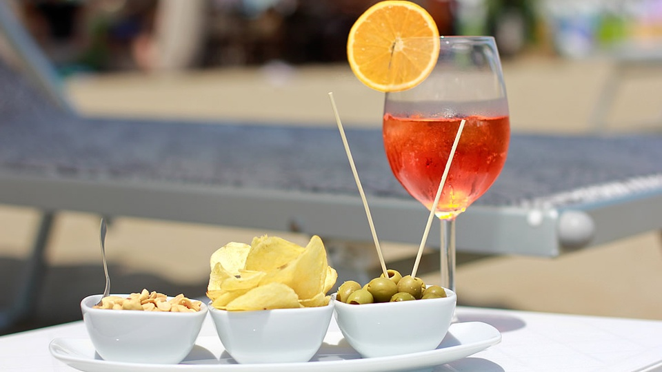 Happy Hour am Strand in Lignano