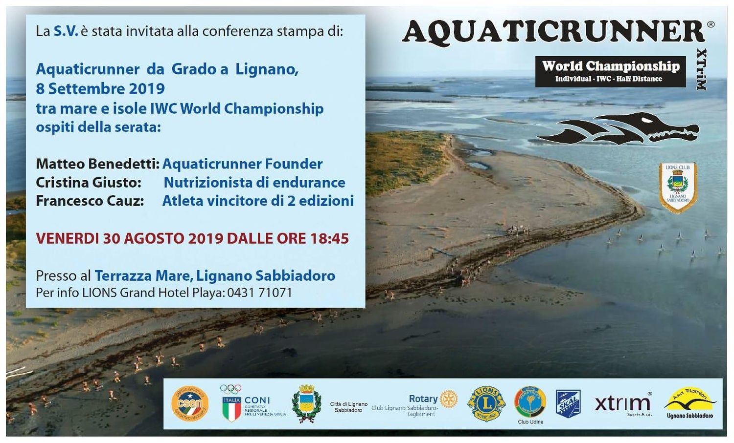 Foto di Conferenza Stampa Aquatic Runner