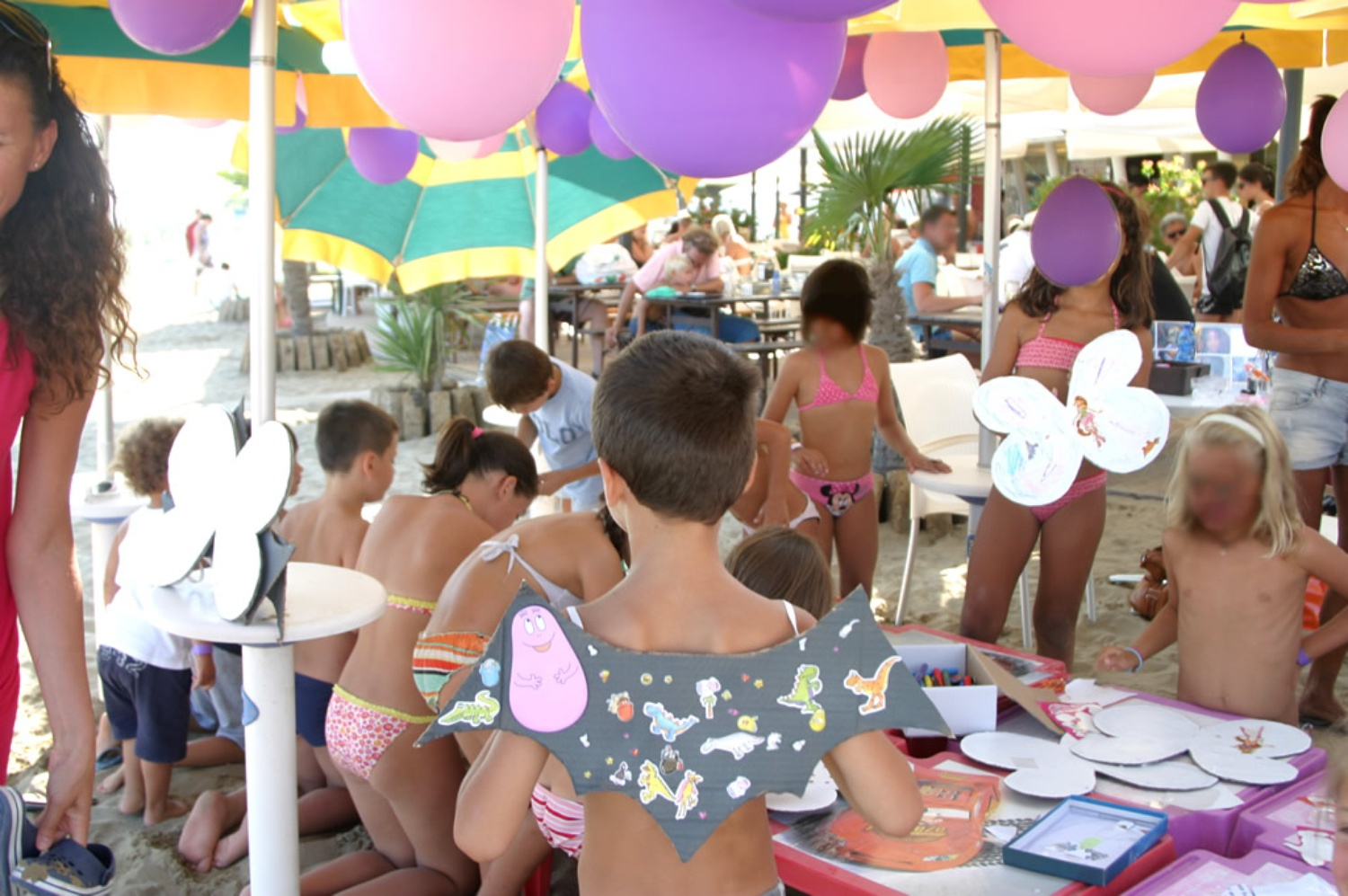 Animation für eine Baby Party in Lignano