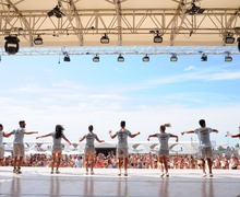 Group dances in Lignano