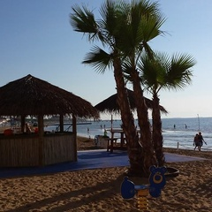 Tropical Point on the beach in Lignano