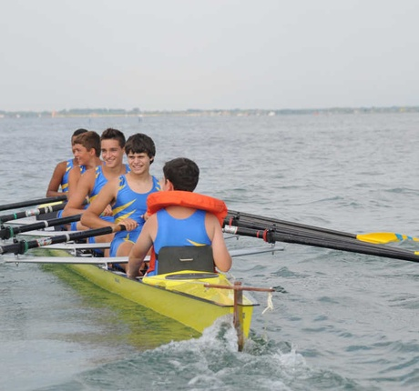 Rowing school in Lignano