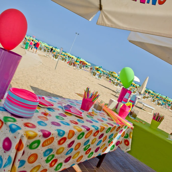 Baby Party am Strand in Lignano