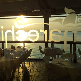 Sunset at Marechiaro Restaurant in Lignano