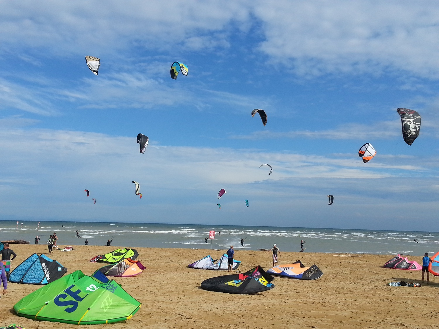 Kitesurfing on the Isola delle Conchiglie