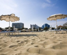 Lido City beach in Lignano