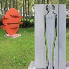 Sculptures at the Parco del Mare in Lignano