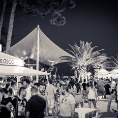 Evening event at Lele's Chiosco in Lignano