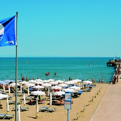 Pier in Lignano Pineta