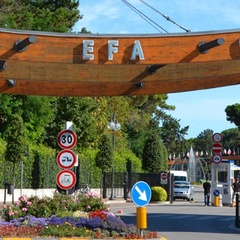 Panoramic entrance to the Adriatic Village in Lignano