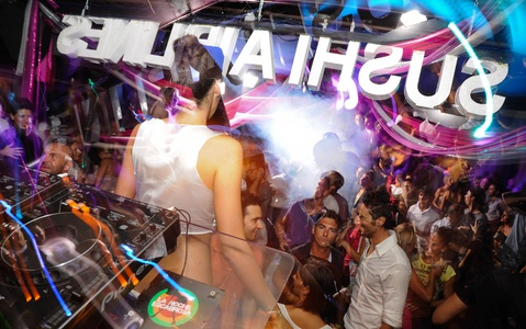 Party in a club in Lignano