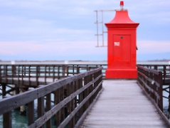 The Red Lighthouse in Lignano © Jennifer Lorigliola